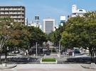青葉緑地 静岡市役所方向