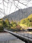 両国の吊橋 上流側