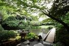 浮月楼 橋より庭園